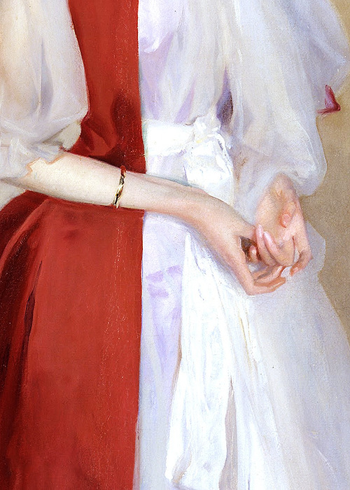 snowce:  John Singer Sargent, Portrait of Mrs Robert Harrison (detail), 1866