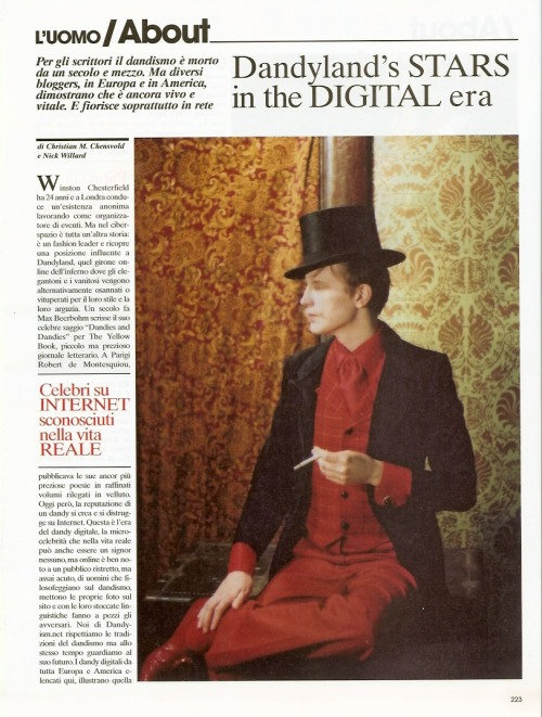 Doran from L'Uomo Vogue, June 2008. Article by Christian Chensvold.