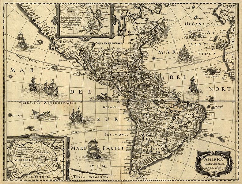 collective-history:  A 17th-century map of the Americas