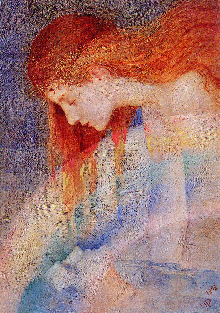 Phoebe Anna Traquair (1852-1936) - Love's testament, 1898 - via