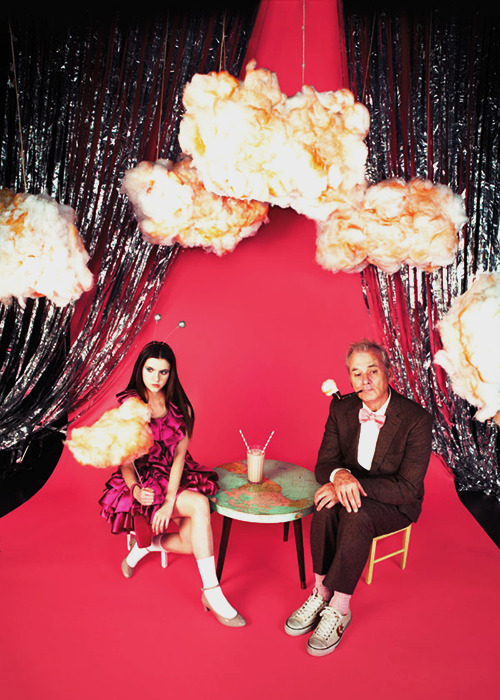 Kara Hayward and Bill Murray by Jake Chessum for Harper's Bazaar