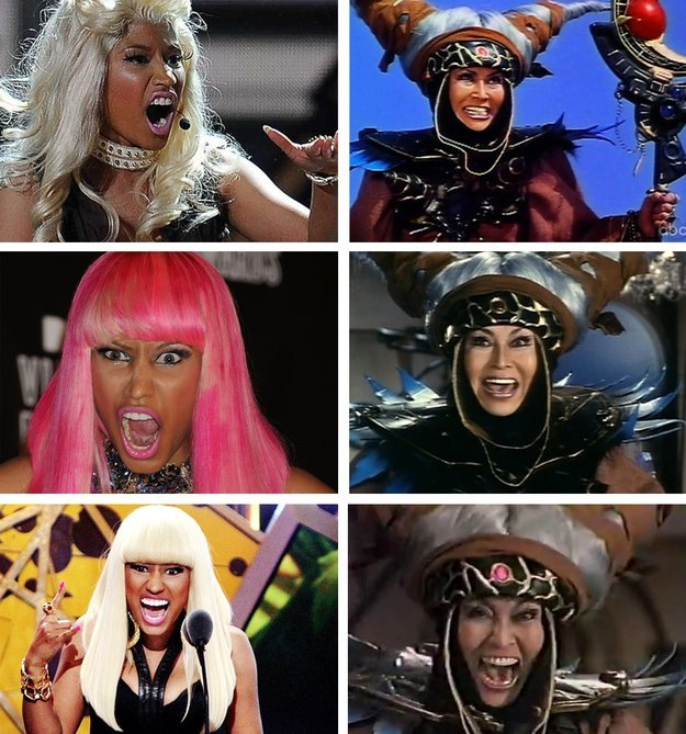 Nicki Minaj is that chick from the Power Rangers!?