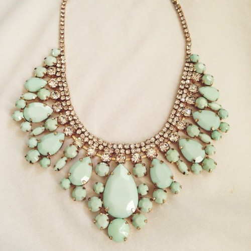😍😍 #jewelry #mint #pretty #necklace
