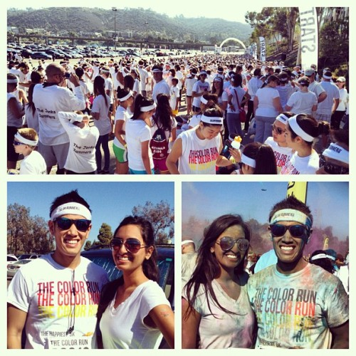 The Color Run in San Diego with @KKDyal. #SanDiego #ColorRun #Fun #Colors #Crazy (at The Color Run at Qualcomm)