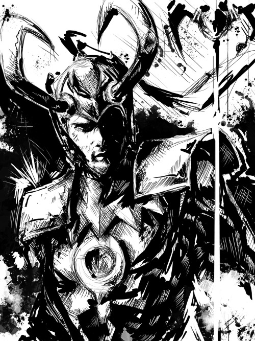 Black and white version of Loki. Time to apply some color! :D