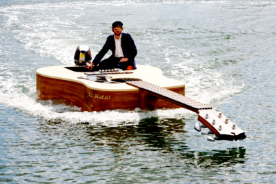 Josh Pyke's Guitar Boat Boat created as a replica of Australian singer Josh Pyke's acoustic guitar.
