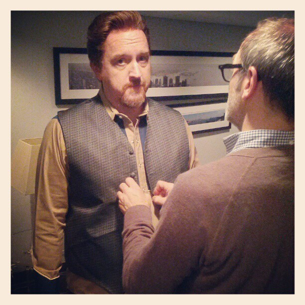 nbcsnl:  Getting ready for dress with @louisck!!
