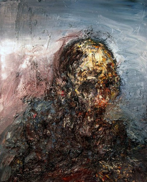 Head in a landscape by Eric Penington