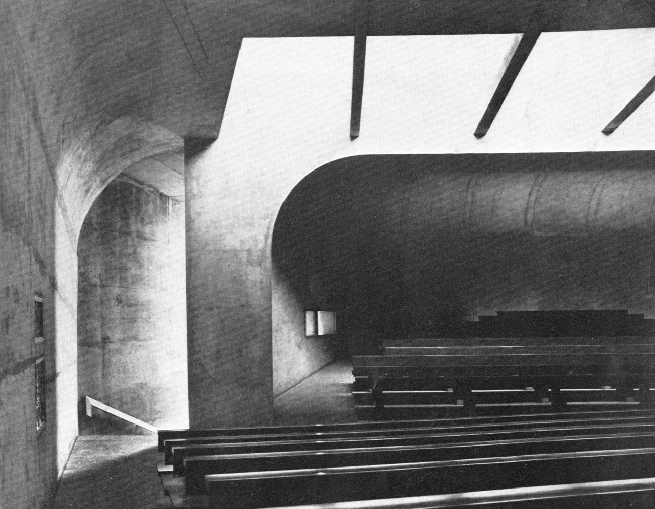 Church of St. Bernadette du Banlay, Nevers, France, 1963-66 (Claude Parent & Paul Virilio)
