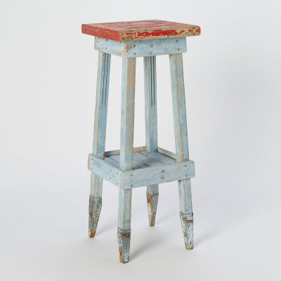 Antique Swedish Side Table. Circa 1900. Constructed of pine and iron.