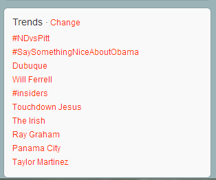 With both Obama and Romney in town, Dubuque's trending on Twitter…Love it!