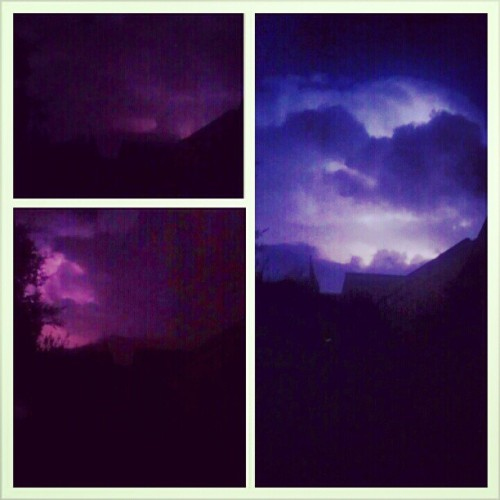 11-03-12 ; The lightening illuminating the clouds.