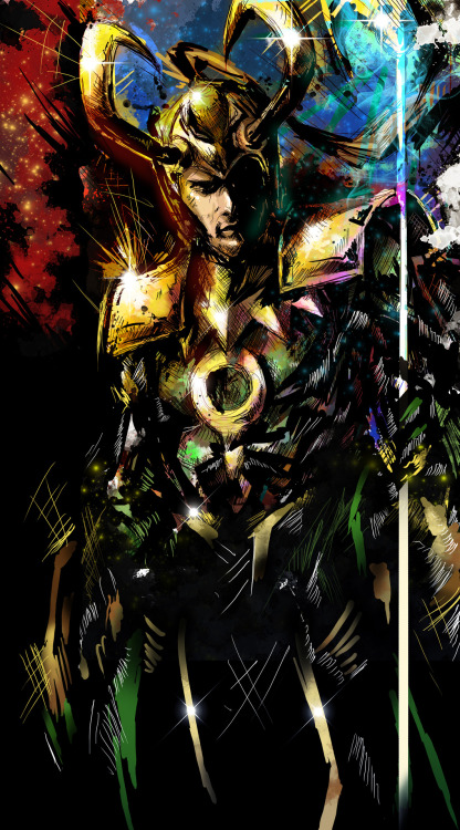 Added some color to Loki :D You can get some sweet tshirts and stuff of Loki at Society6 [link]