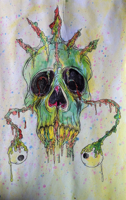 Monster skull painting from the week