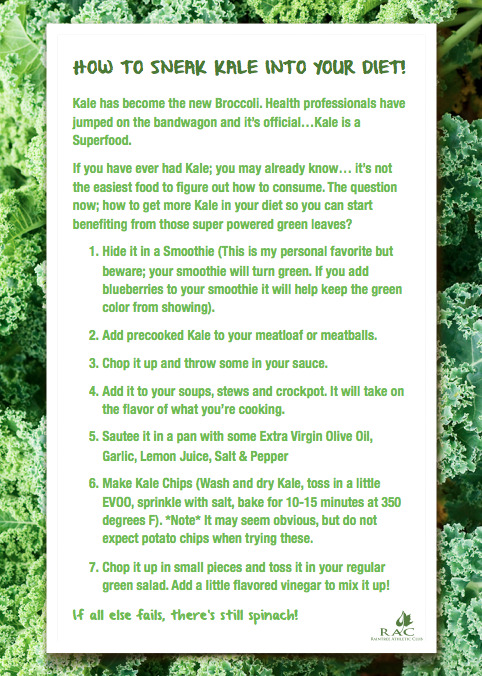Here is some things to do with Kale (care with some of these if you have histamine issues). I don't myself eat any meat of course but I add Kale to my veggie soups and stews and here is my Kale soup easy peasy recipe too.  I also make kale chips in my dehydrator and add raw Kale to my raw green juice and green smoothies. Kale is king :))) x
