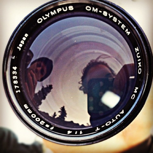 #Reflection #Cameras on cameras; #trekking in #november. @draemt