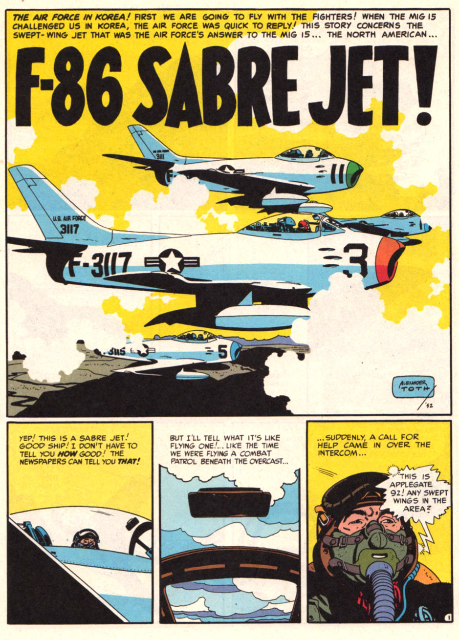 tothlove:  F86 Sabre Jet - Harvey Kurtzman and Alex Toth page 1