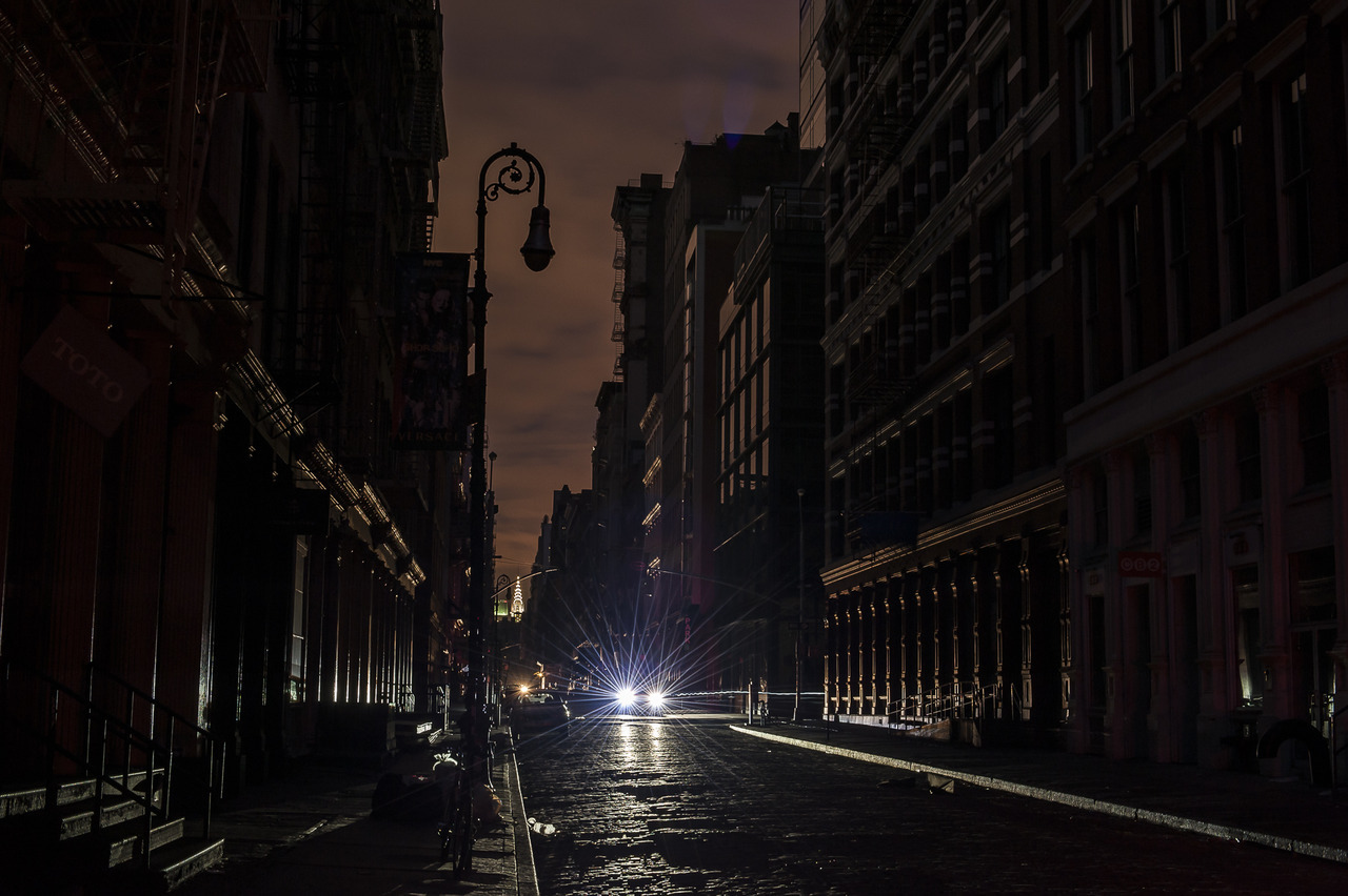 Blackout in the streets of SoHo