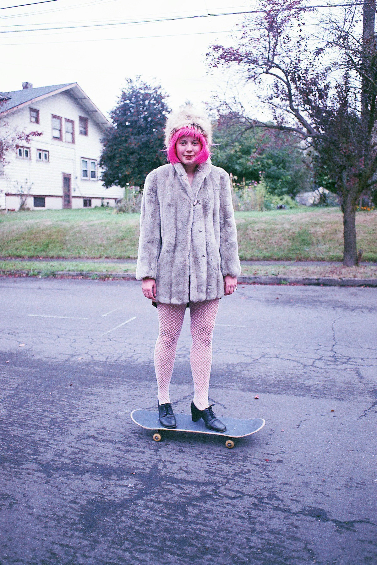 Megan and Skateboard. October 2012. Portland, OR.
