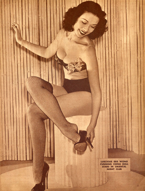 malicious-maiden:  Burlesque Dancer, Actress Iris Wong (1946)