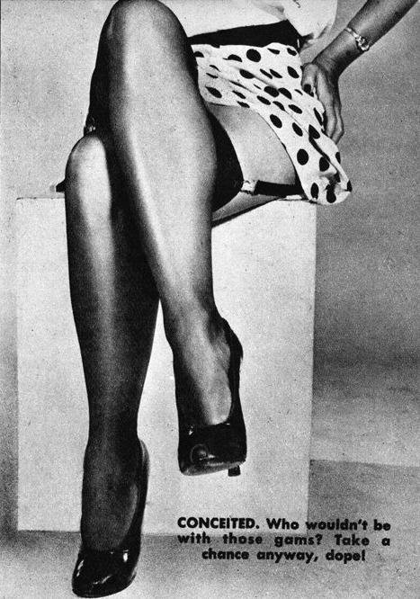 Legs Reveal the Woman Type #5 (Conceited) c.1950 detail from an image found here vintage scans