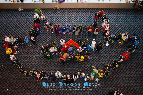 bluedragonmedia:  Hey guys, look what we did at Youmacon today! Thank you all to participated to make this excellent photo! Thank you so much :D  ((hey look! it's me as the nic of time on the tip of the right ear. i had so much fun with that.))
