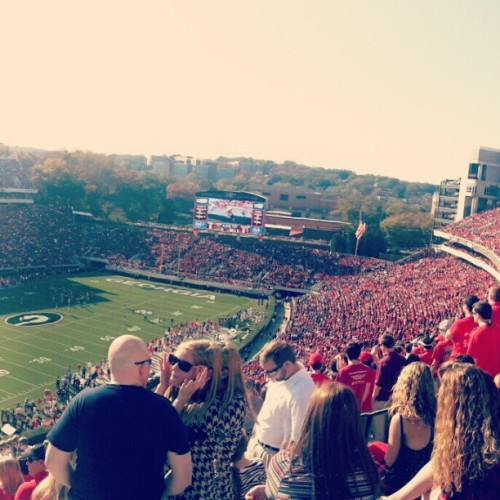 UGA vs Ole Miss on a somewhat blazing hot weekend #uga #olemiss #collegefootball