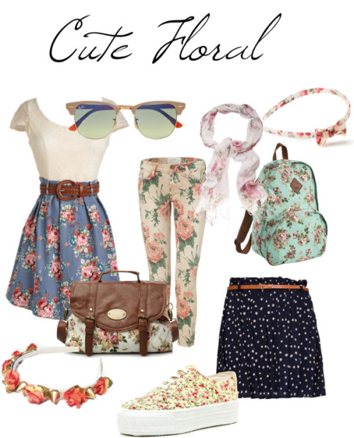 CUte Floral by greenelixir featuring flatform shoes