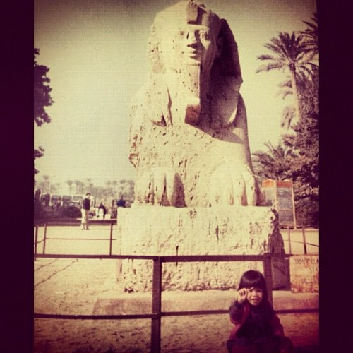 The Sphinx and I. #Egypt (at Memphis, EGYPT)