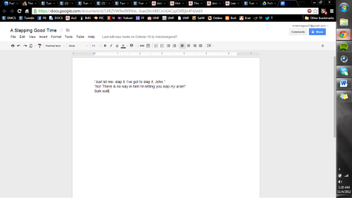 SO i was going though the things I have in my google docs and uh that's all that's there