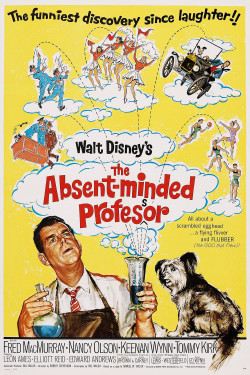 Movies I've Seen in 2012 194.  The Absent-Minded Professor (1961) Starring:  Fred MacMurray, Nancy Olson, Keenan Wynn  Director:  Robert Stevenson Rating:  ★★★★/5