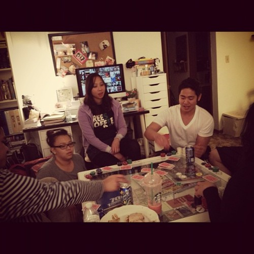 Ayeeee poker night! And fajita night, #HOLLA lol :) #goodcompany #yolodolo #shotcolla #fajita #burrito #pokernight @farva @luckyalan @danny @grace @phoebe @kevin @ryan 😁👌 by stephvvee http://instagr.am/p/RmLBrOQNH4/