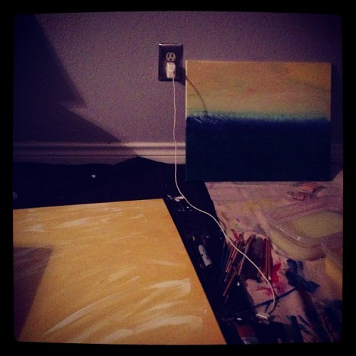 I could do this all night: get lost in writing, painting & music. Unfortunately my kids wake up at 6:30, soooo. Reluctantly I'm taking this body to sleep & hope my mind cooperates.