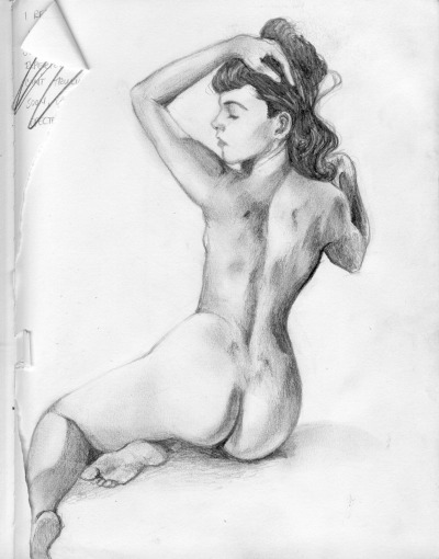 A drawing of Bettie Page I gone and done.