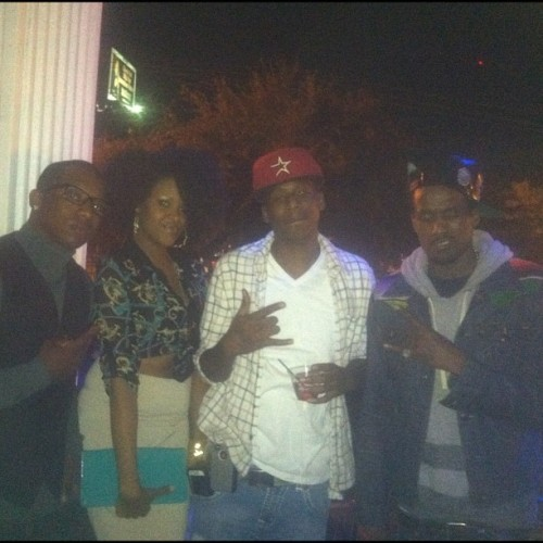Chillin with my FAMILY @life_nightclub because #lifeisgood. @enn2deep, me, @robyork2 and @yaboiizz