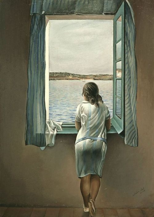 lipstreams:  Woman at the window by Salvador Dalí