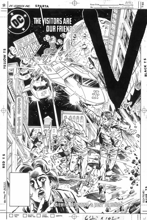 V - Vol.1 No.3 (1985, DC Comics)Original Cover Art by Tony DeZuniga
