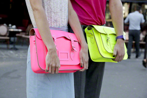 ramp-vogue:  neon fashion trends here <3