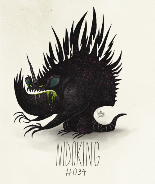 Nidoking #034 Part of The Tim Burton x PKMN Project By Vaughn Pinpin