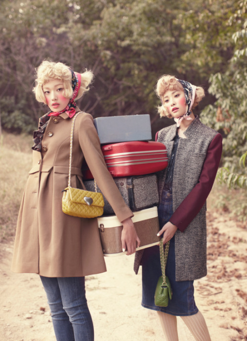 koreanmodel:  Kwak Jiyoung and Choi Ara by Zoo Young Gyun for Ceci Korea Nov 2012