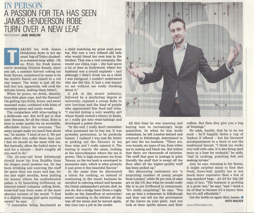 Interview with me in today's Scotland on Sunday, Spectrum magazine.
