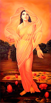 "unusualjourney:  ""In the Vedas Aditi is a sky goddess and mother of the gods from whose cosmic matrix the heavenly bodies were born. As celestial mother of every existing form and being, the synthesis of all things, she is associated with space (akasa) and with mystic speech. She may be seen as a feminized form of Brahma and associated with the primal substance (mulaprakriti) in Vedanta. She is mentioned nearly 80 times in the Rigveda: the verse ""Daksha sprang from Aditi and Aditi from Daksha"" is seen by Theosophists as a reference to ""the eternal cyclic re-birth of the same divine Essence"" and divine wisdom. In contrast, the puranas, such as the shiva purana and the bhagavata purana, suggest that Aditi is wife of sage Kashyap and gave birth to the adityas such as Indra, Surya.""  Proud to be ""ADITI"""