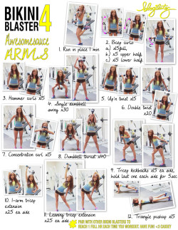 blogilates:  This is how you get super sexy toned arms. Print and do it now! Or watch the video here. <3 Cassey