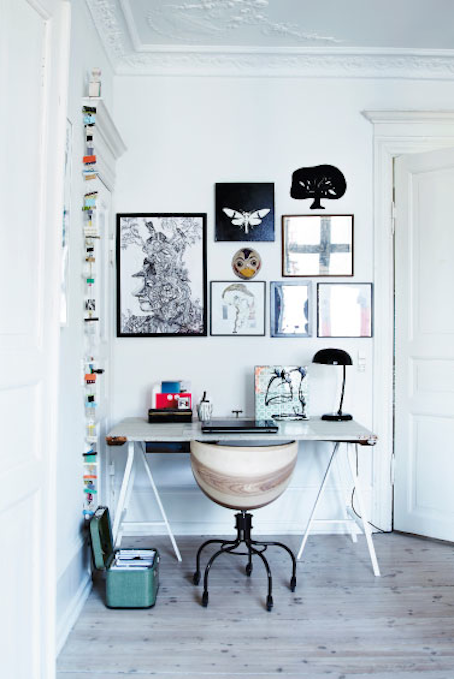Source: Femina Awesome little work space! If you need to create a space like this on a budget, simple trestle tables work effectly and won't break the bank.
