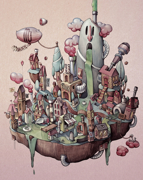 Floating Island by Marija Tiurina