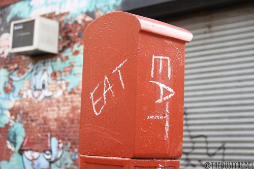 thedustyrebel:  Eat Eat Park Slope, BrooklynMore photos of Street Art.   Eat shit and die : j