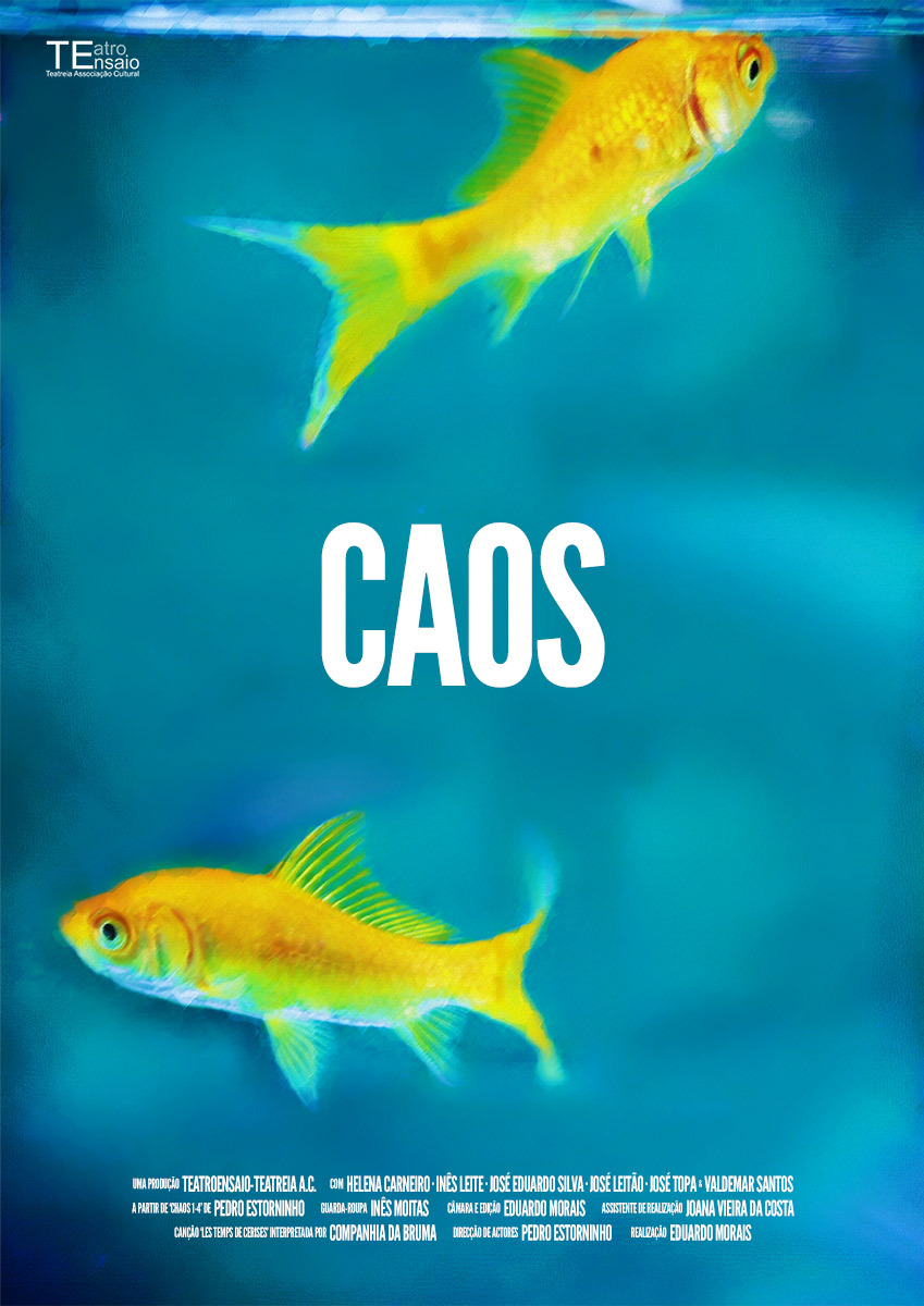 Here's the poster for my new film Caos, right now in the final stages of editing. Like last year's Damião, Caos is an adaptation of texts by Pedro Estorninho, this time about a surreal group of Portuguese expats in France who meet at the same Portuguese coffeehouse.  Here's a teaser video. I'll post more information about the first preview screening soon.