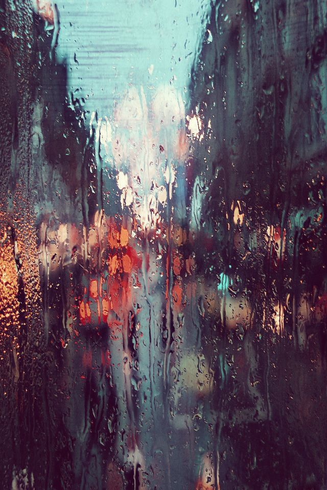 blounderwous:  leslieknopeful:  I love how everything looks through a rainy window. It's like a painting.  Reblogging cause it's raining