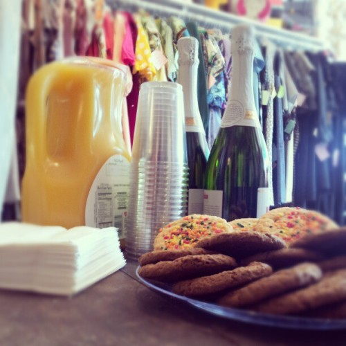 Mimosas and cookies at the shop today!  #concettascloset #Newmarket #NH  (at Concetta's Closet)