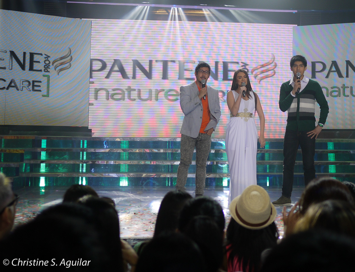 Angelica P as the face of Pantene Nature Care